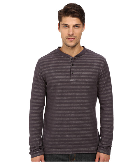 London Fog - Crew Neck Plated Jersey Knit (Tornado Grey) Men