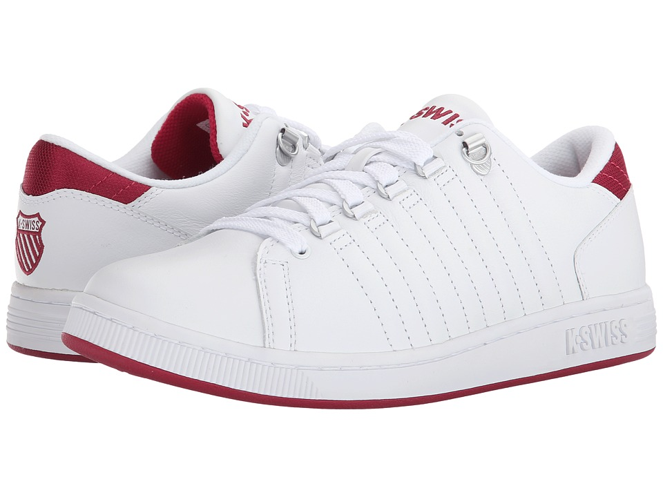 K-Swiss - Lozan III (White/Berry) Women's Tennis Shoes
