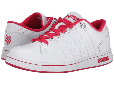 K-Swiss - Lozan III (White/Raspberry) Women's Tennis Shoes