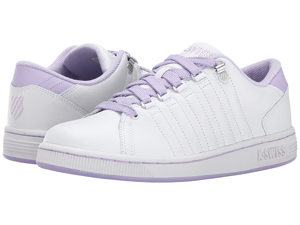 K-Swiss - Lozan III (White/Pastel Lilac) Women's Tennis Shoes