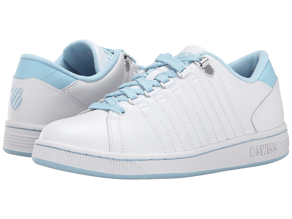 K-Swiss - Lozan III (White/Blue Heaven) Women's Tennis Shoes