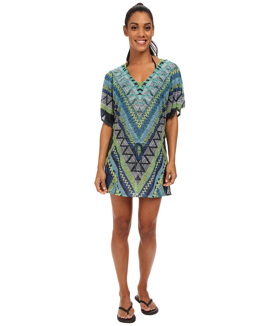 Prana - Saida Kaftan (Vivid Blue Panama) Women's Blouse