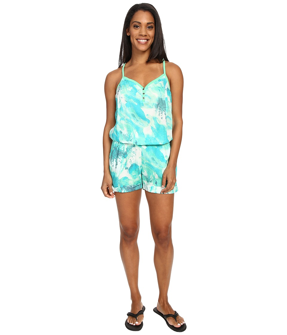 Prana - Sylvia Romper (Jade Cream) Women's Jumpsuit & Rompers One Piece