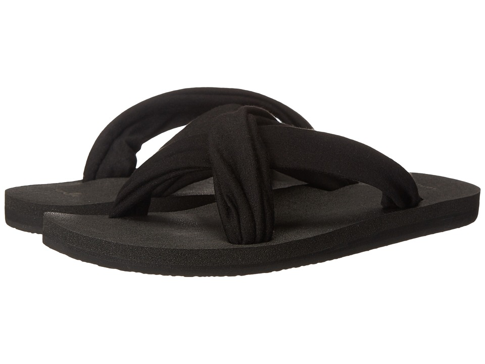 Sanuk - Yoga X-Hale (Black) Women's Sandals
