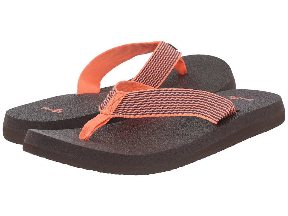 Sanuk - Yoga Mat Webbing (Hot Coral/Slate Blue) Women's Sandals