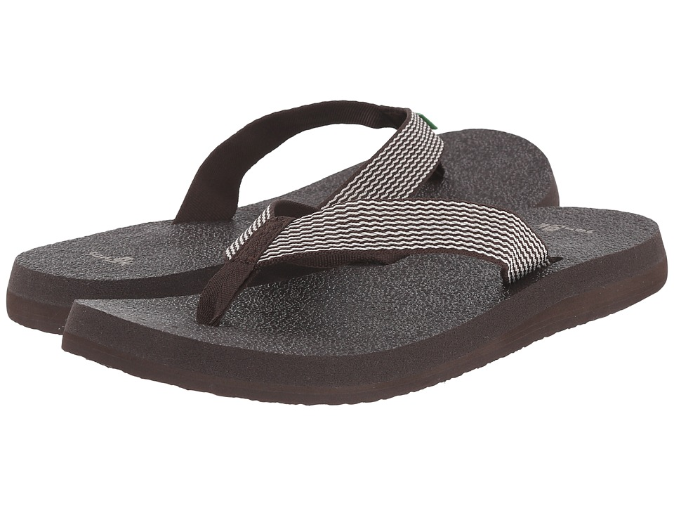Sanuk - Yoga Mat Webbing (Brown/Natural) Women's Sandals