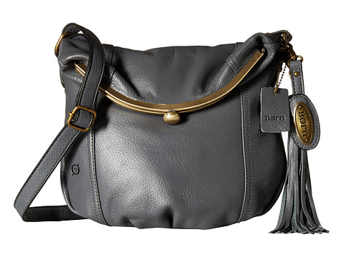 Born - Dovercourt Fold-Over Frame Crossbody (Grey) Cross Body Handbags
