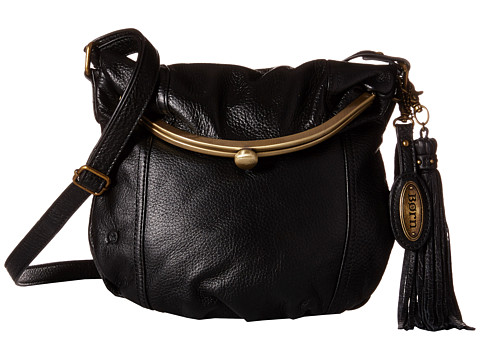 Born - Dovercourt Fold-Over Frame Crossbody (Black) Cross Body Handbags