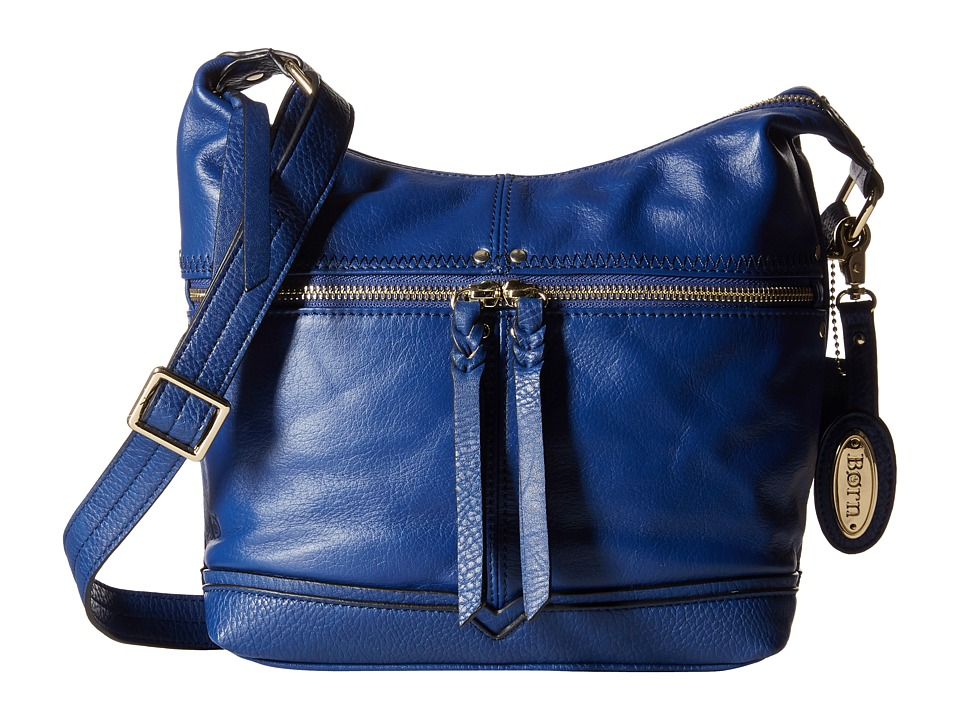 Born - Contra Costa Crossbody with Braided Strap (Blue) Cross Body Handbags