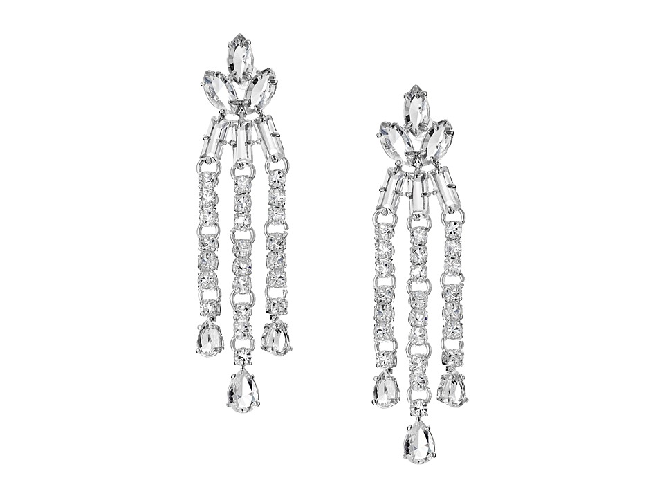 Kate Spade New York - Catching Light Drama Earrings (Clear) Earring
