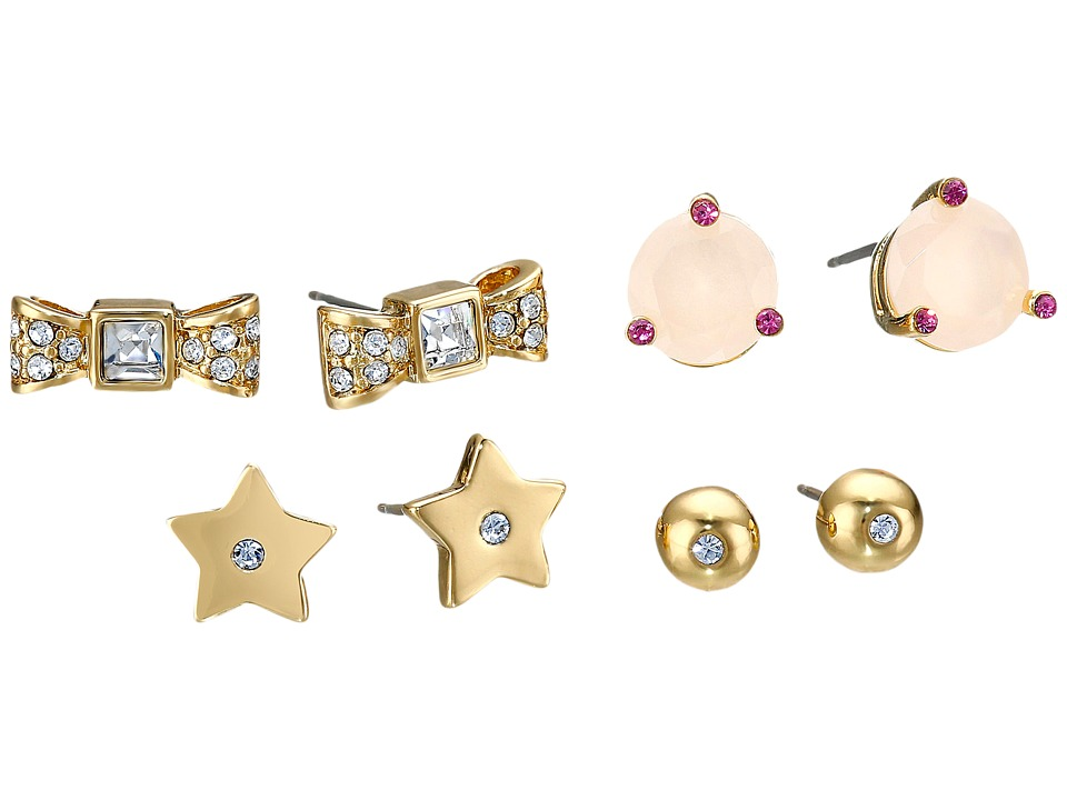 Kate Spade New York - Four-Piece Studs Set (Pink/Multi) Earring