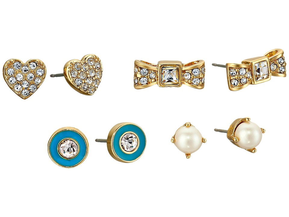 Kate Spade New York - Four-Piece Studs Set (Turquoise/Multi) Earring