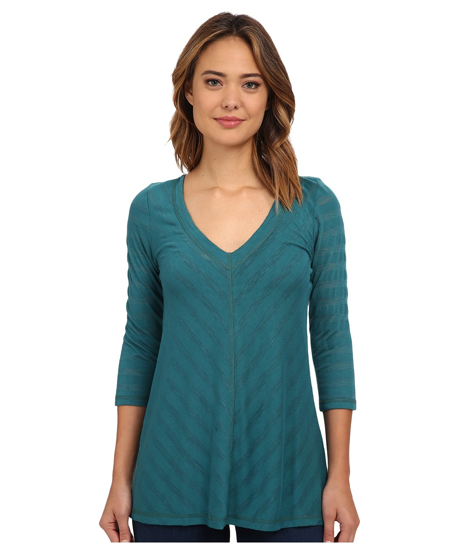 Miraclebody Jeans Mary Mitered Solid Top w/ Body-Shaping Inner Shell (Teal Green) Women