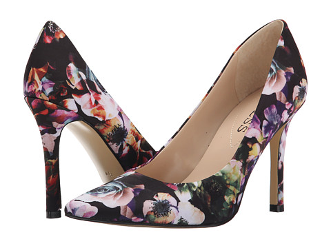 GUESS - Eloy (Black Floral) High Heels