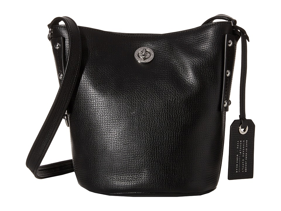 Marc by Marc Jacobs - C Lock Bucket (Black) Handbags