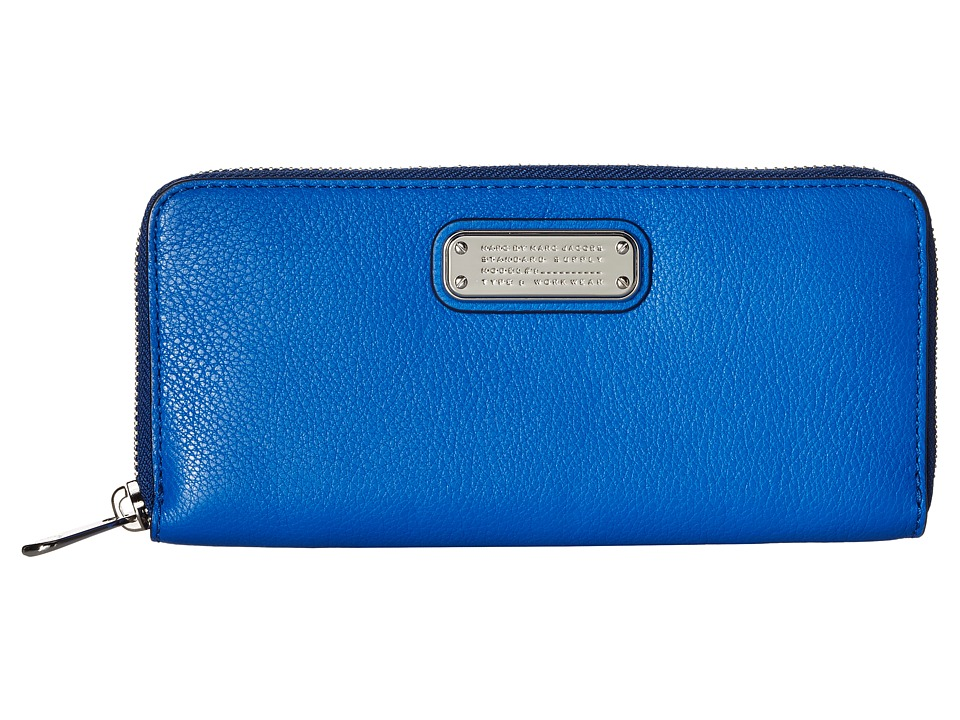 Marc by Marc Jacobs - New Q Slim Zip Around (Neptune Blue) Wallet Handbags