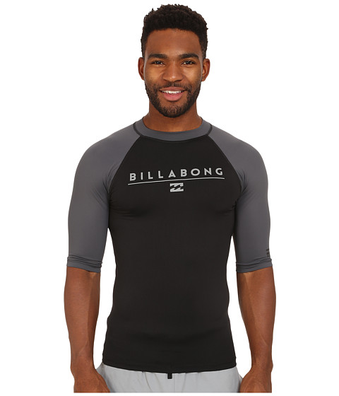 Billabong - All Day Raglan Short Sleeve Rashguard (Black) Men