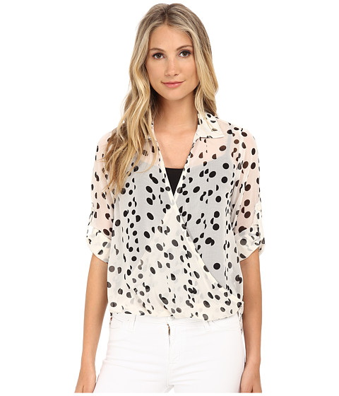 Brigitte Bailey - Valerie Polka Dot Top (Ivory/Black) Women's Blouse