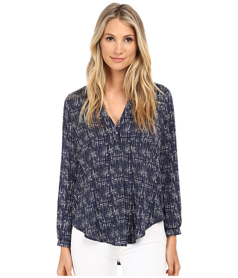 Brigitte Bailey - Maggie Button Up Blouse (Navy) Women