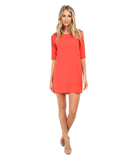 Gabriella Rocha - Hillary 3/4 Sleeve Dress with Back Zipper (Orange) Women's Dress