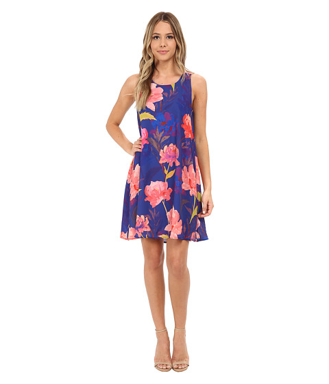 Gabriella Rocha - Joanna Rose Print Dress (Royal) Women's Dress