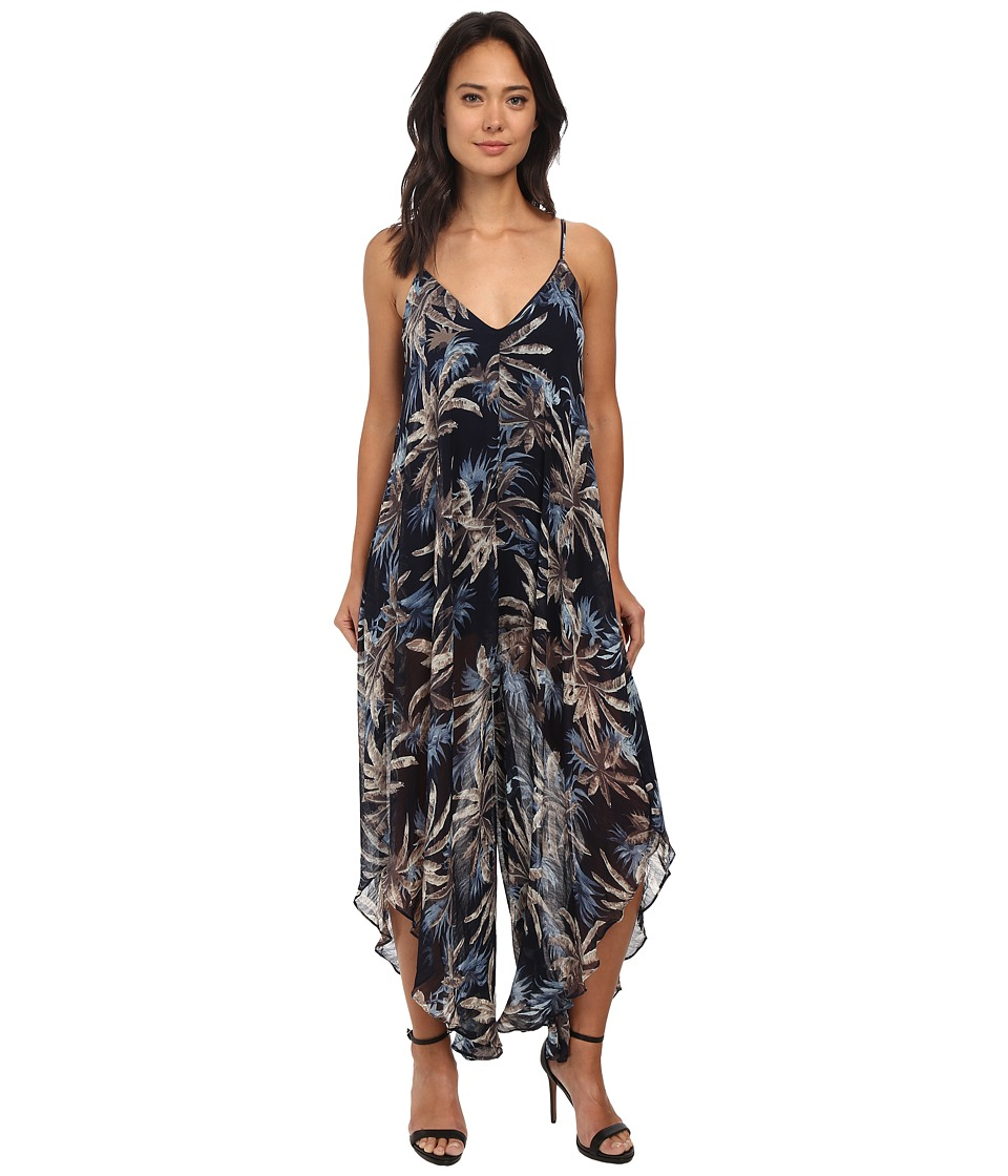 Gabriella Rocha - Daphne Tropical Print Maxi Dress (Navy) Women's Jumpsuit & Rompers One Piece