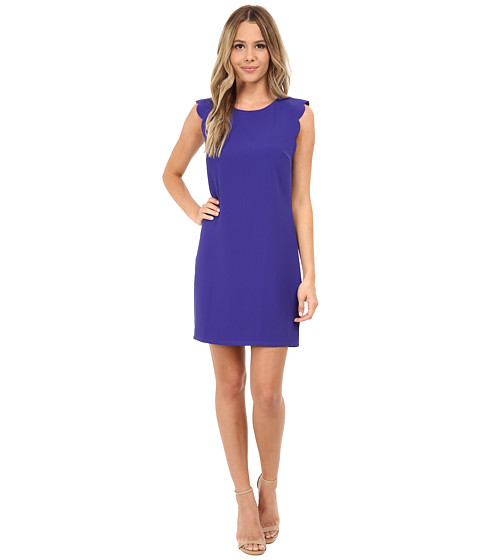 Brigitte Bailey - Jillian Scalloped Sleeve Dress (Royal) Women's Dress