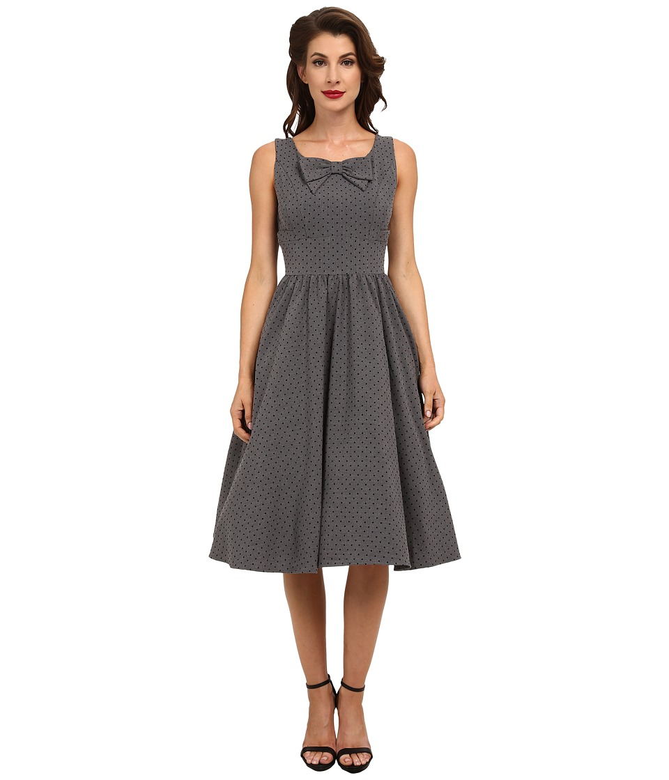 Stop Staring! - Dori Swing Dress (Grey/Black Microdot) Women