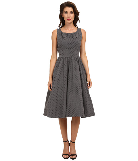 Stop Staring! - Dori Swing Dress (Grey/Black Microdot) Women's Dress