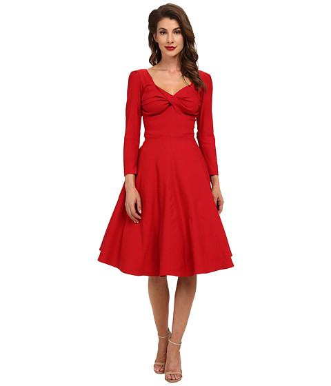 Stop Staring! - Adeline Swing Dress (Red) Women's Dress