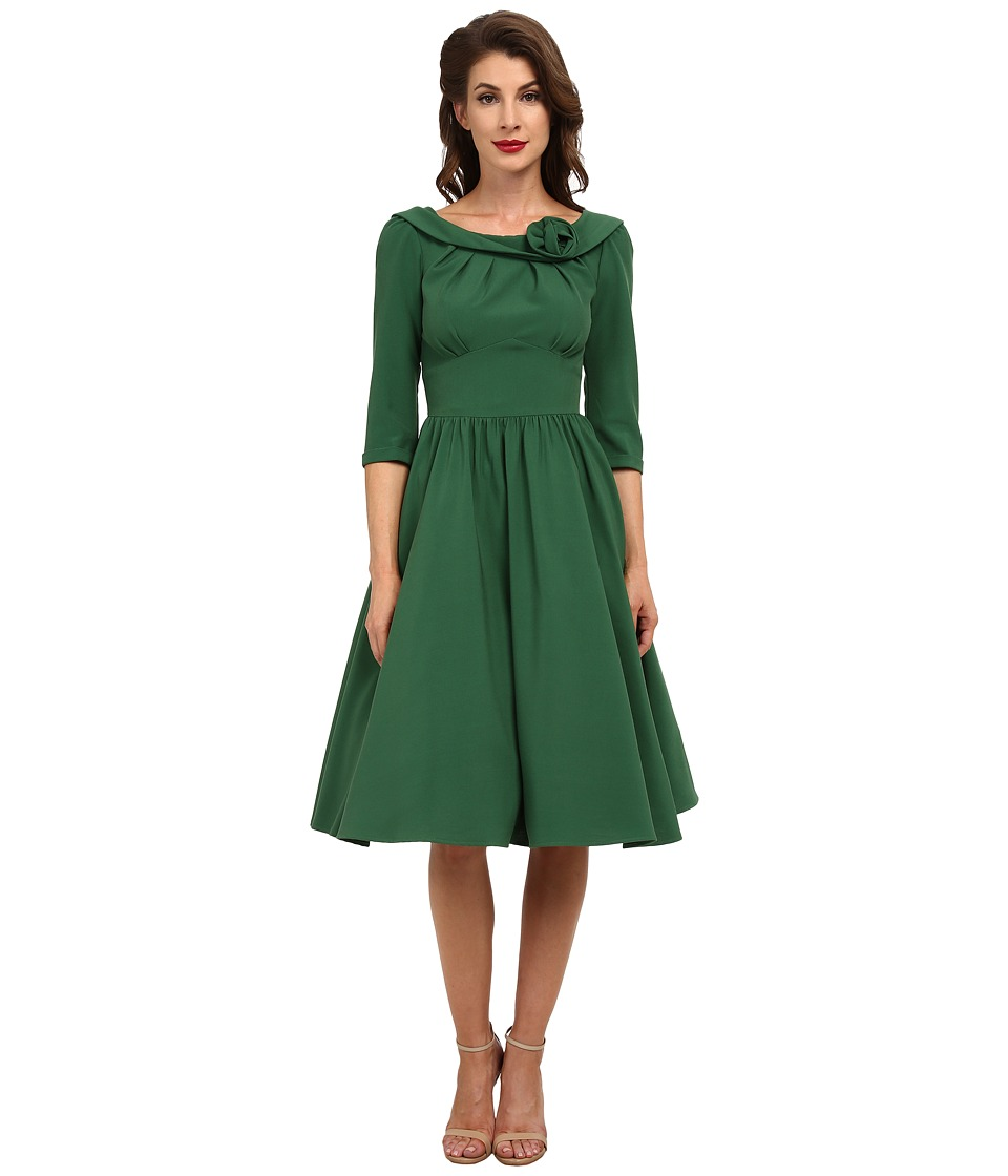 Stop Staring! - Abbey Swing Dress (Green) Women's Dress
