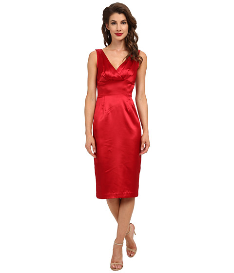 Stop Staring! - Sapra Dress (Red Satin) Women's Dress