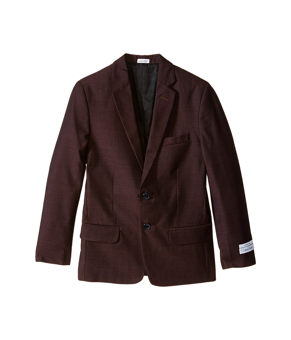 Calvin Klein Kids - Birdseye Jacket (Big Kids) (Burgundy) Boy's Jacket