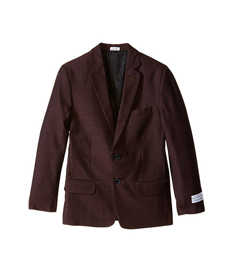 Calvin Klein Kids - Birdseye Jacket (Big Kids) (Burgundy) Boy