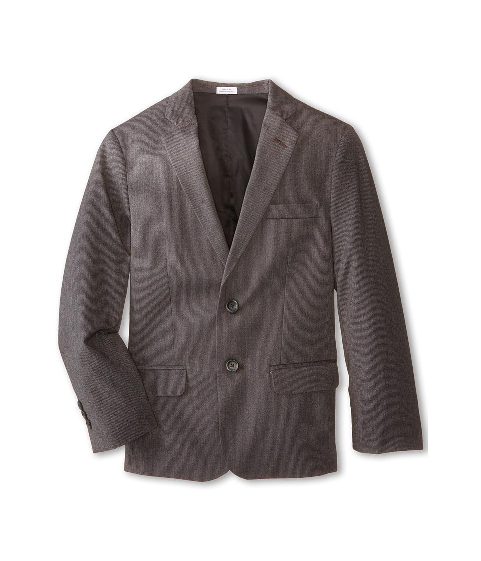 Calvin Klein Kids - Luster Cord Jacket (Big Kids) (Dark Grey) Boy's Coat