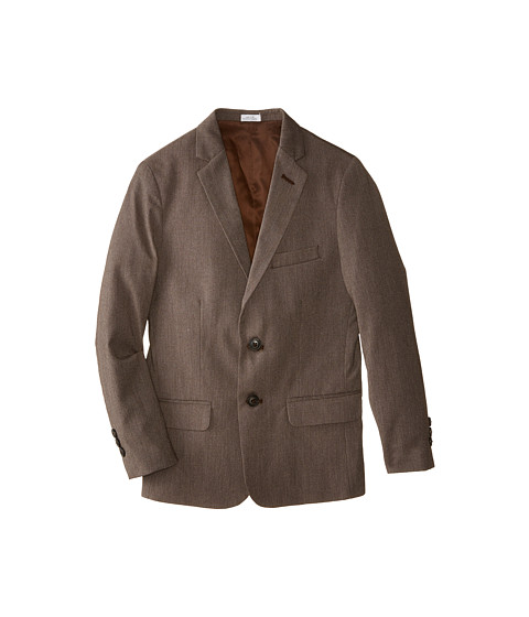 Calvin Klein Kids - Luster Cord Jacket (Big Kids) (Brown) Boy's Coat