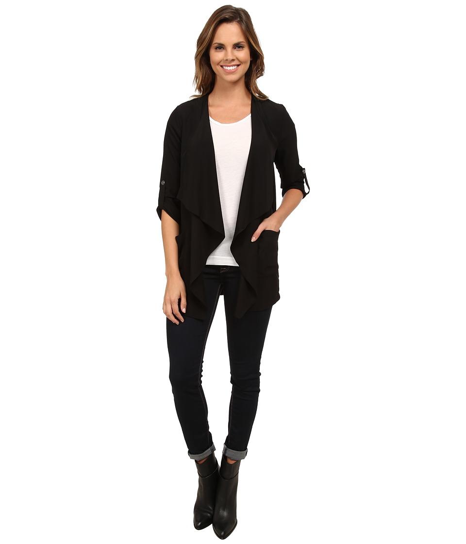 Brigitte Bailey - Faye Blazer Cardigan (Black) Women's Sweater