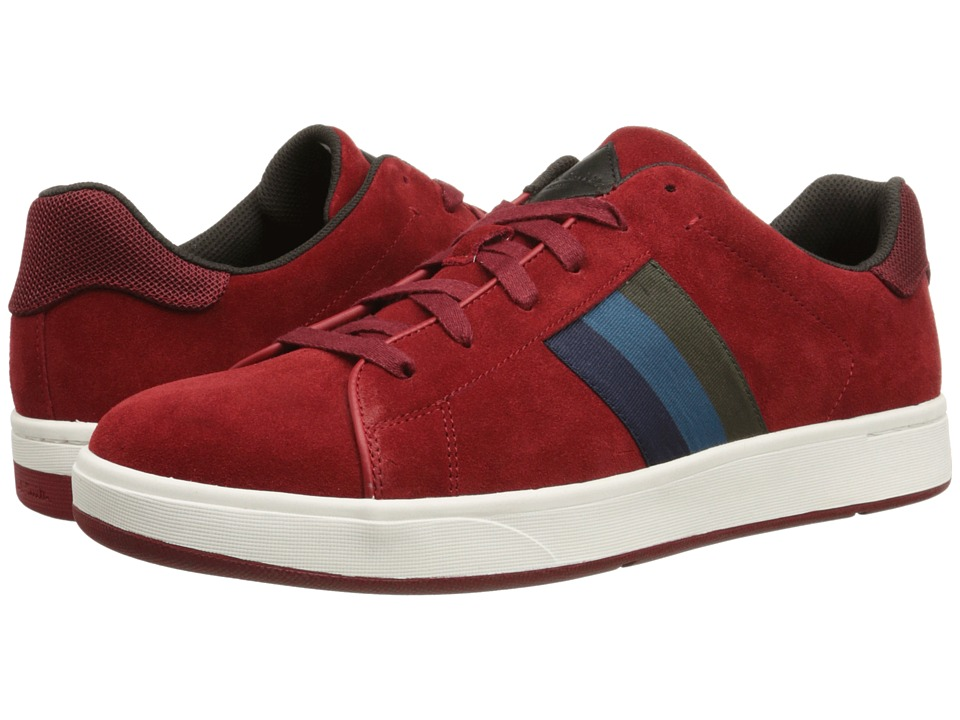 Paul Smith - Jeans Lawn Sneaker (Carmine Red Suede) Men's Lace up casual Shoes