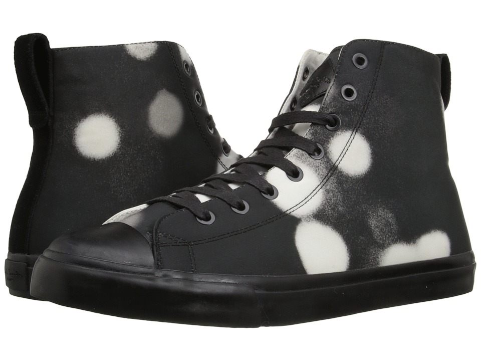 Paul Smith - Jeans Allegra Shadow Spot High Top (Black/White) Men's Lace up casual Shoes
