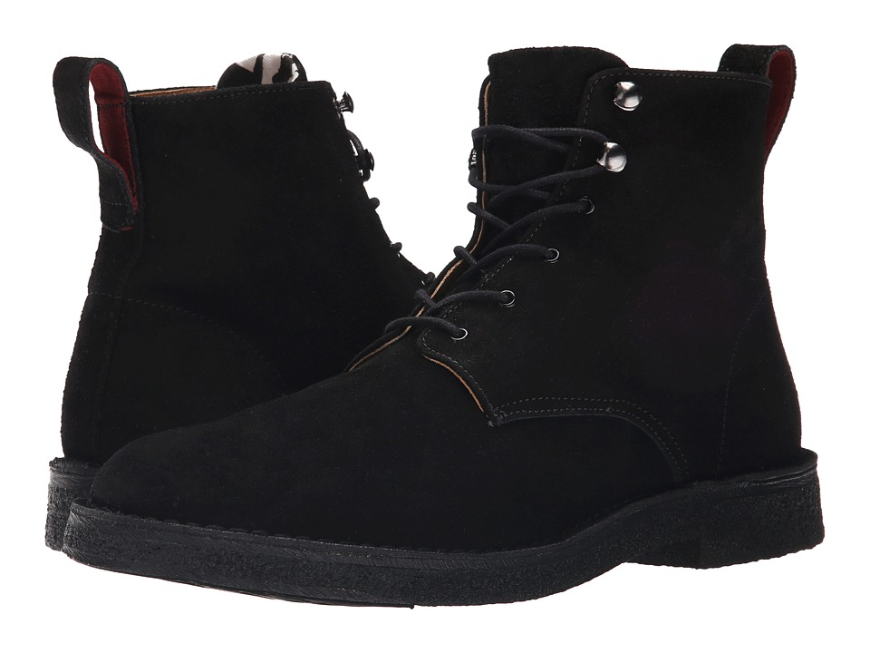 Paul Smith - PS Echo Lace Boot (Black Suede) Men's Lace-up Boots