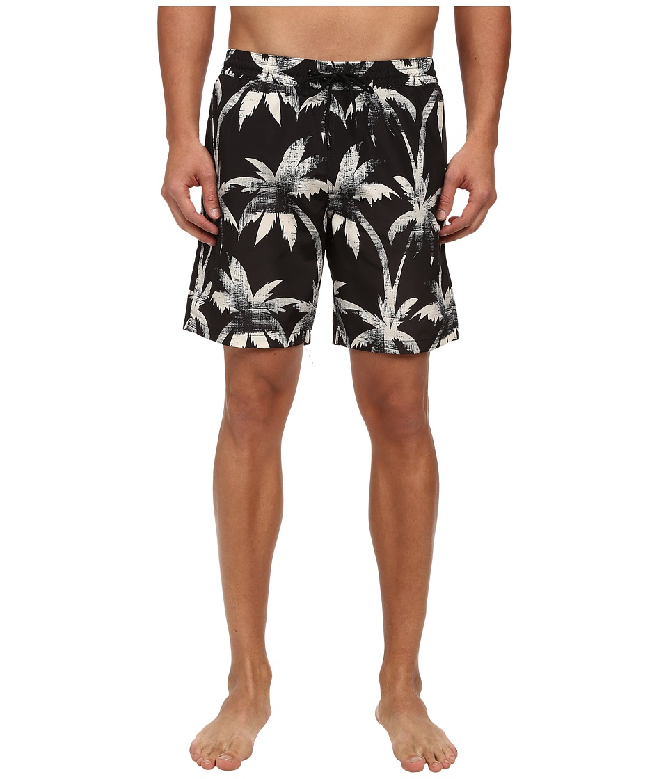 Paul Smith - Palm Tree Classic Swim Trunks (Black/Tan) Men's Swimwear