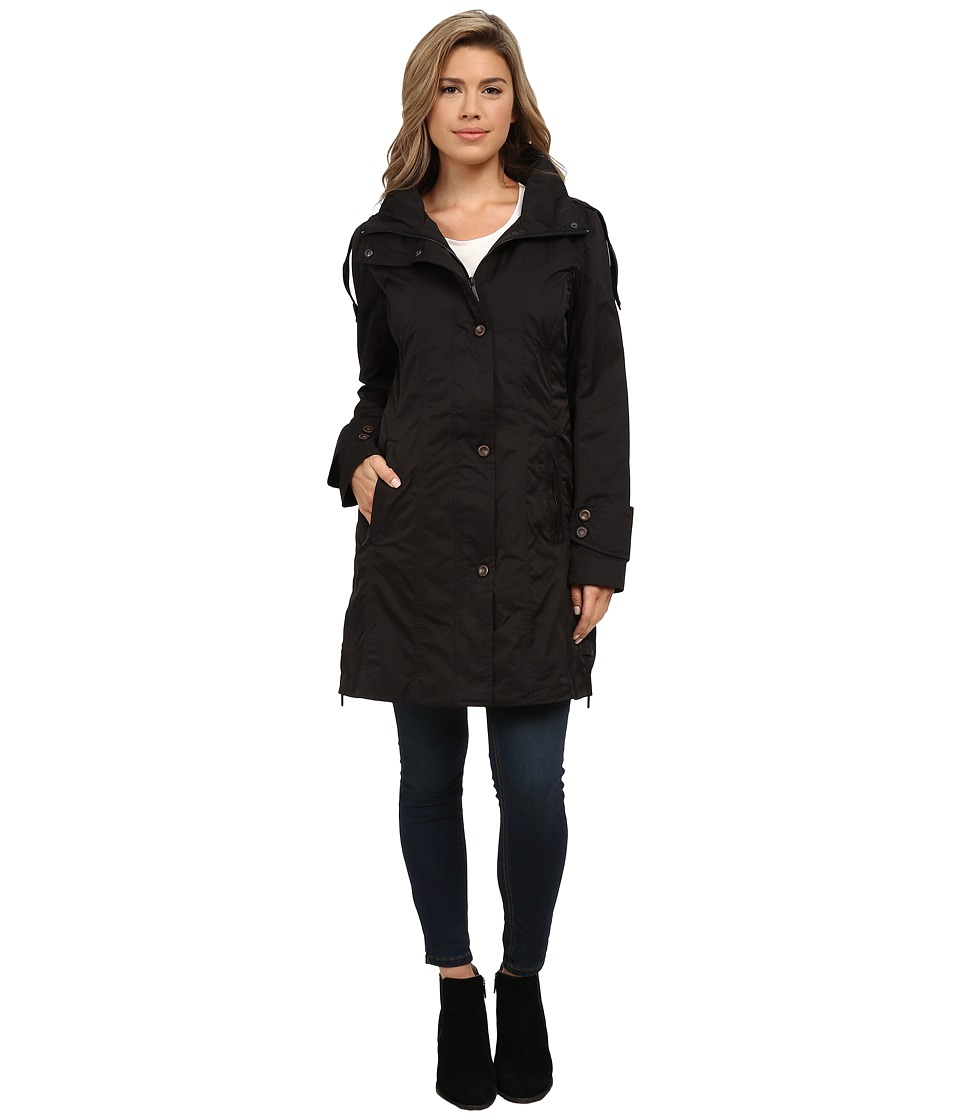 Rainforest - Packable Modern Trench (Black) Women's Coat