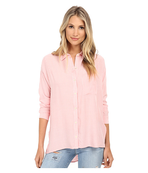 Brigitte Bailey - Abigail Button Up Top (Pink) Women's Blouse