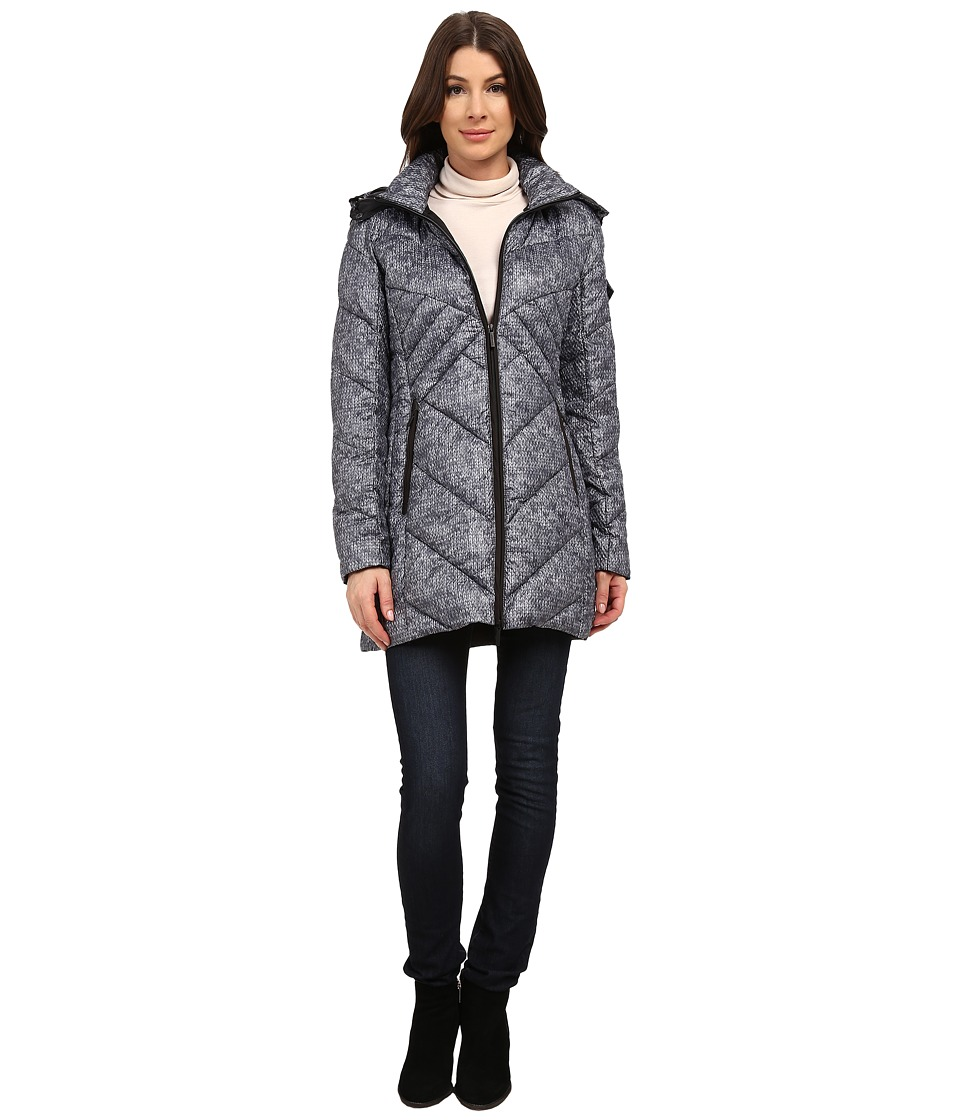 Rainforest - Knit Printed Puffer (Black/Grey) Women's Coat