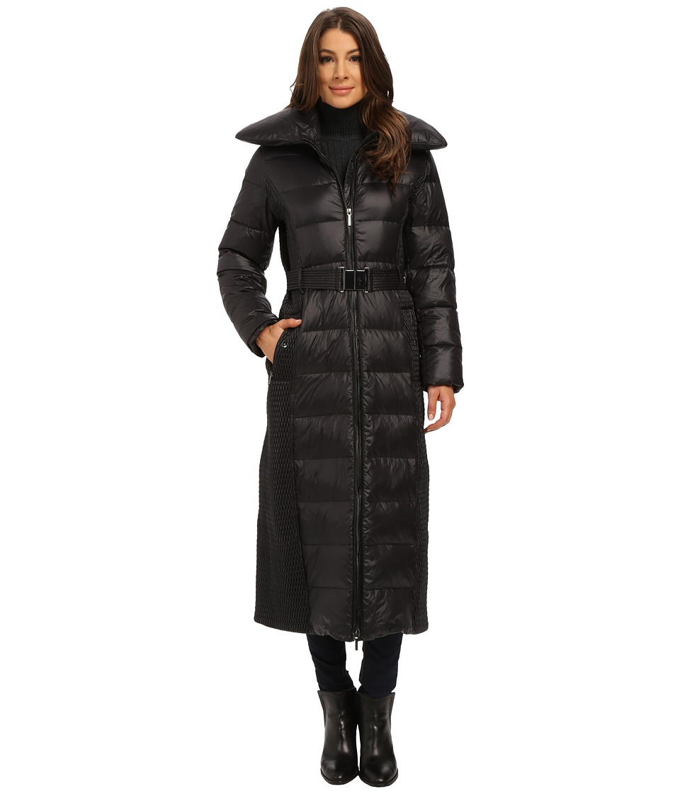 Rainforest - Long Puffer with Pillow Collar (Black) Women's Coat