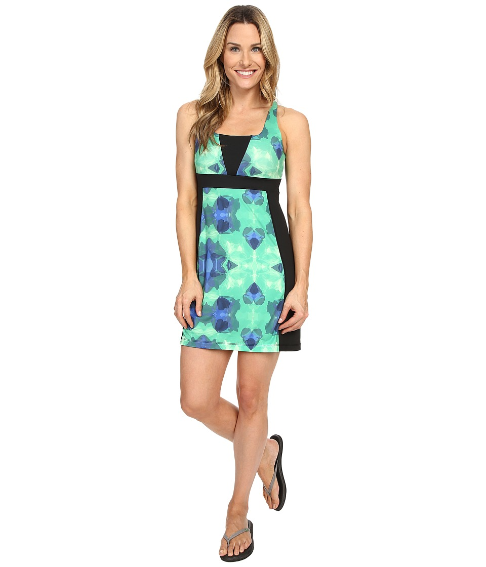 Skirt Sports - Electric Dress (Emerald City Print/Black) Women's Dress