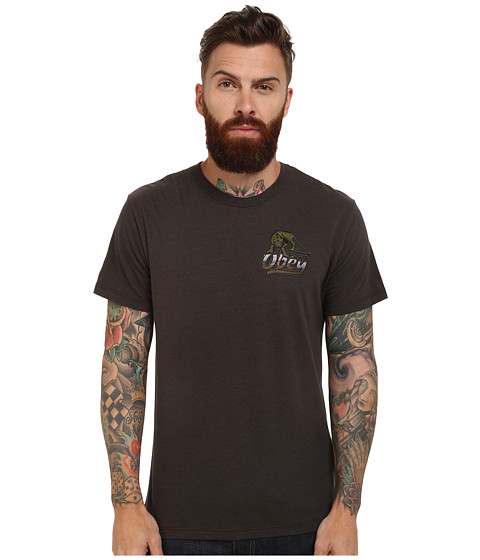 Obey - Rival Glory Tee (Graphite) Men's T Shirt