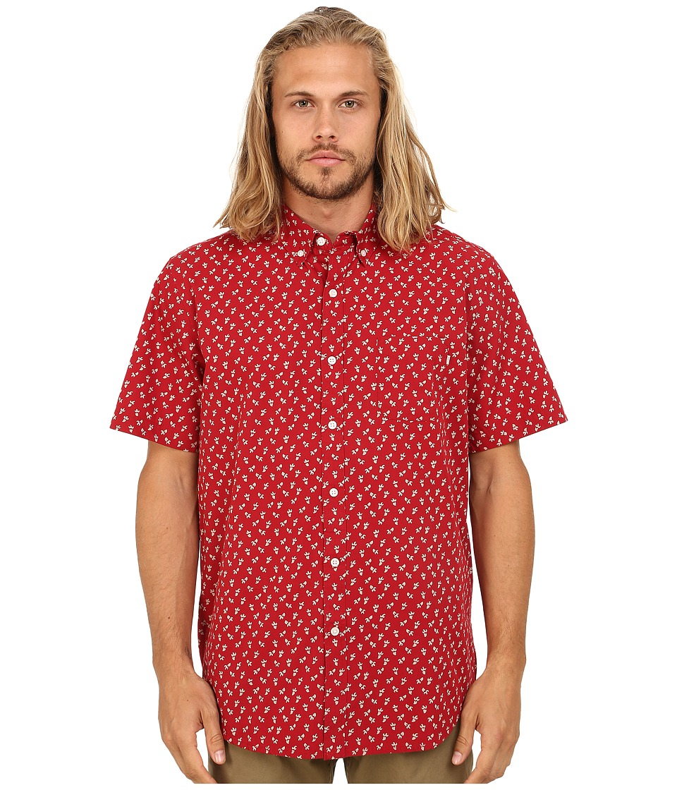 Obey - Reuss Woven (Red Multi) Men's Clothing