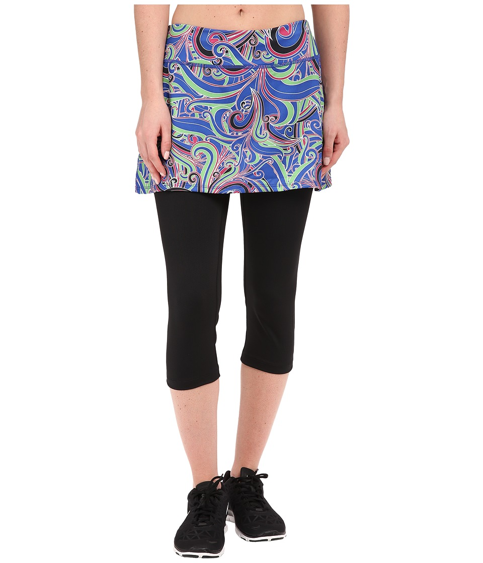 Skirt Sports - Lotta Breeze Capri (Free Love Print/Black) Women's Skort