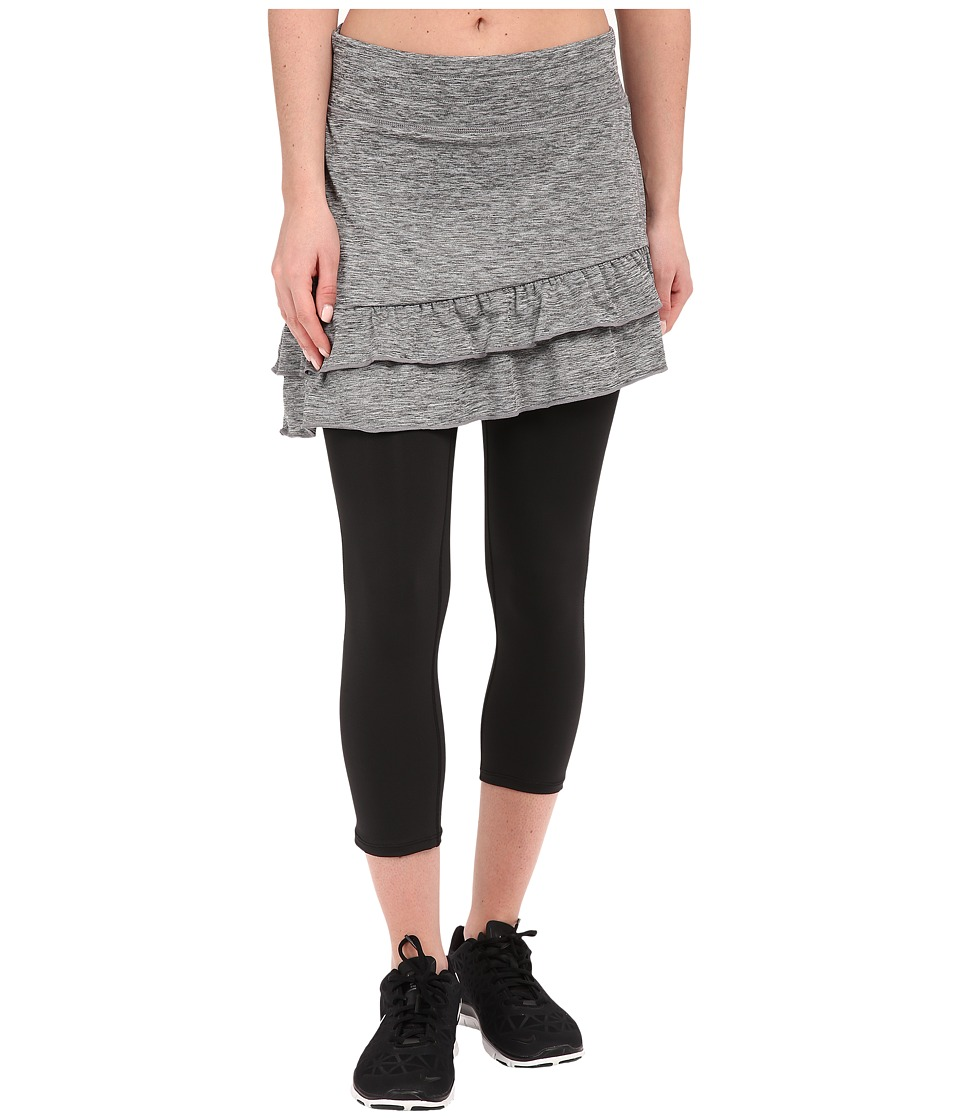 Skirt Sports - Vixen Capri Skirt (Grey Stardust/Black) Women's Skort